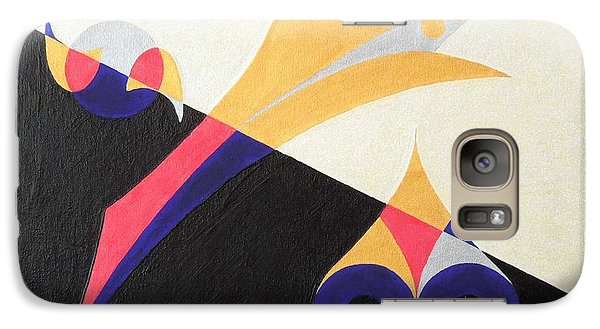 Galaxy Case featuring the painting Balancing Act by Ron Davidson