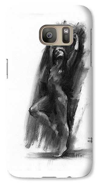 Galaxy Case featuring the drawing A Dance Of Balance by Paul Davenport