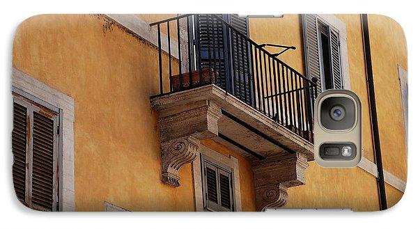 Galaxy Case featuring the photograph Balcony Piazza Della Madallena In Roma by Dany Lison