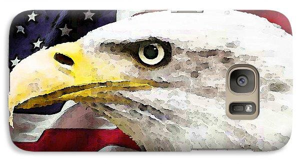 Bald Eagle Art - Old Glory - American Flag Galaxy Case by Sharon Cummings