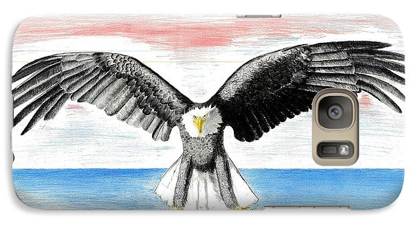 Galaxy Case featuring the drawing Bald Eagle by David Jackson