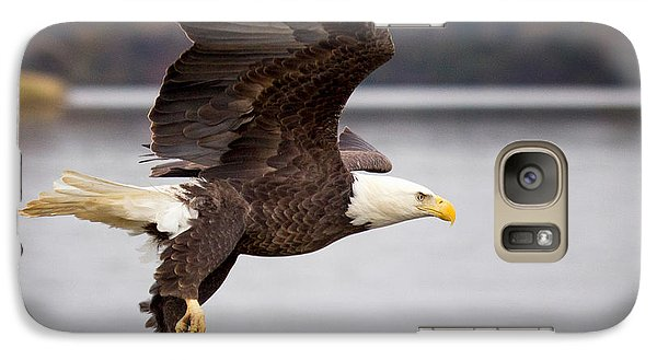 Galaxy Case featuring the photograph Bald Eagle Flight by Alan Raasch