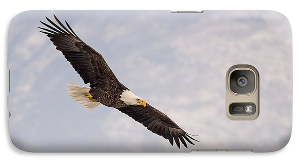 Galaxy Case featuring the photograph Bald Eagle In Full Extension by Jeremy Farnsworth