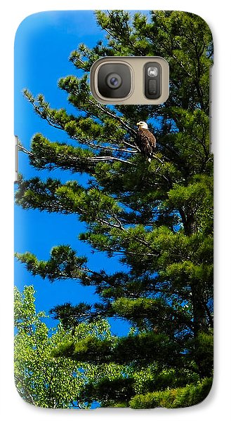 Galaxy Case featuring the photograph Bald Eagle   by Lars Lentz