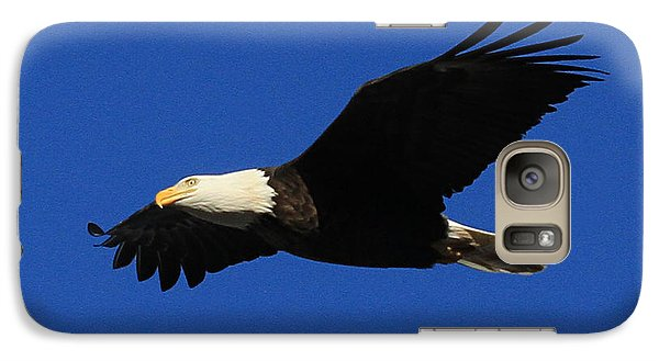 Galaxy Case featuring the photograph Bald Eagle Lock 14 by Paula Guttilla