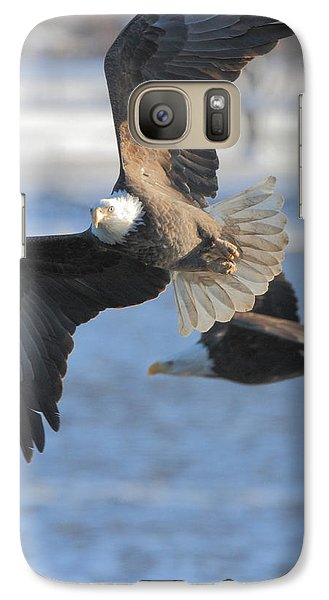 Galaxy Case featuring the photograph Bald Eagle Pair by Coby Cooper