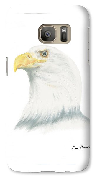 Galaxy Case featuring the drawing Bald Eagle by Terry Frederick