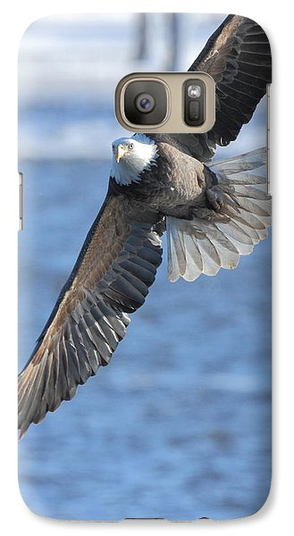 Galaxy Case featuring the photograph Bald Eagle Turn by Coby Cooper