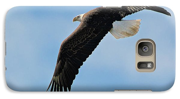 Galaxy Case featuring the photograph Bald Eagle Turning by Stephen  Johnson