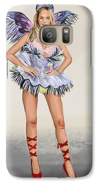 Galaxy Case featuring the digital art Balerina by Bogdan Floridana Oana