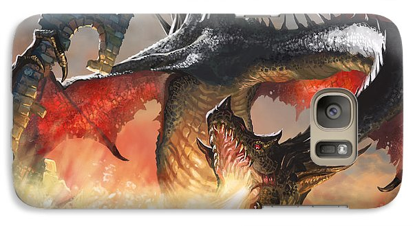 Fantasy Galaxy S7 Case - Balerion The Black by Ryan Barger