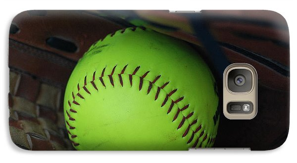 Galaxy Case featuring the photograph Ball And Glove by Mark McReynolds