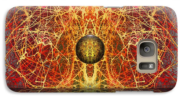 Galaxy Case featuring the digital art Ball And Strings by Otto Rapp