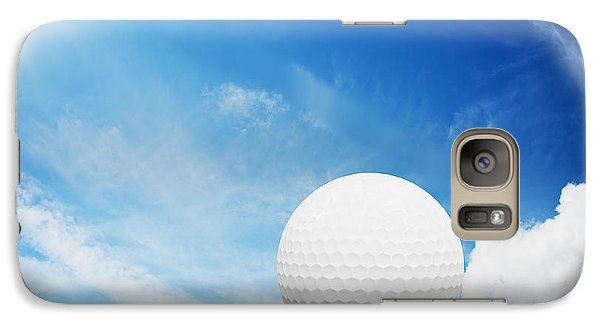 Ball On Tee On Green Golf Field Galaxy S7 Case by Michal Bednarek