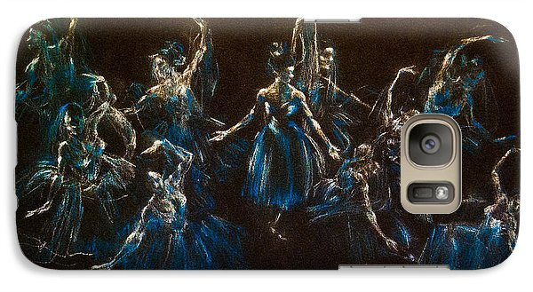 Galaxy Case featuring the painting Ballerina Ghosts by Jani Freimann