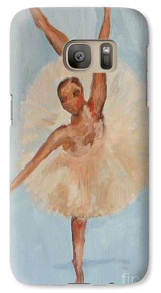Galaxy Case featuring the painting Ballerina by Marisela Mungia