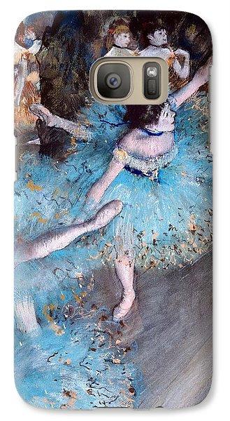 Ballerina On Pointe  Galaxy Case by Edgar Degas