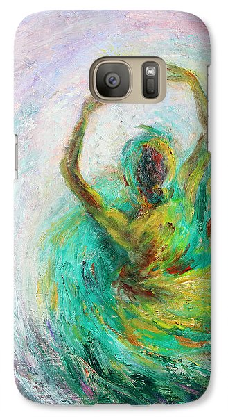 Galaxy Case featuring the painting Ballerina by Xueling Zou