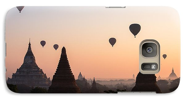 Religion Galaxy S7 Case - Ballons Over The Temples Of Bagan At Sunrise - Myanmar by Matteo Colombo