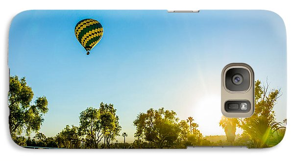 Galaxy Case featuring the photograph Balloon At Sunset by Alex Weinstein
