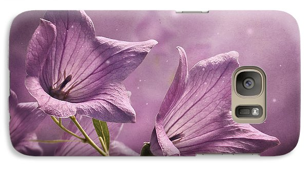 Galaxy Case featuring the photograph Balloon Flowers by Ann Lauwers