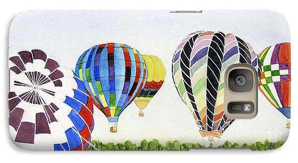 Galaxy Case featuring the painting Balloons by Carol Flagg