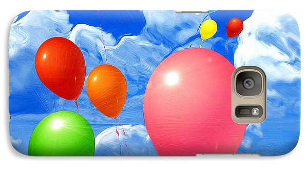 Galaxy Case featuring the painting Balloons by Daniel Janda