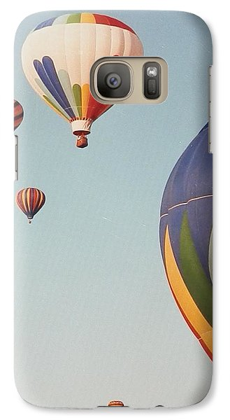 Galaxy Case featuring the photograph Balloons High In The Sky by Belinda Lee