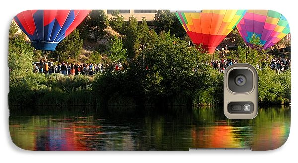 Galaxy Case featuring the photograph Balloons Over Bend Oregon by Kevin Desrosiers