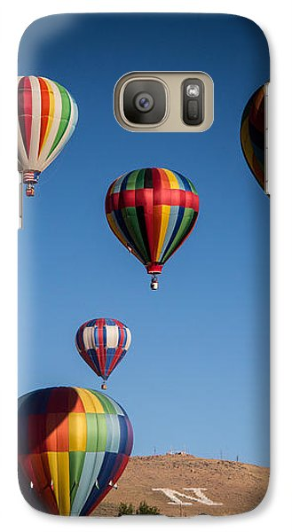 Galaxy Case featuring the photograph Balloons Over Northern Nevada by Janis Knight
