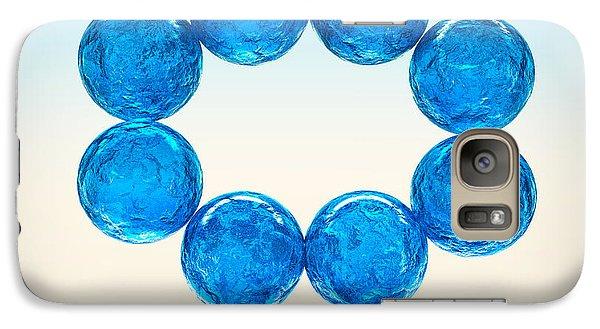 Galaxy Case featuring the digital art Balls Of Glass... by Tim Fillingim