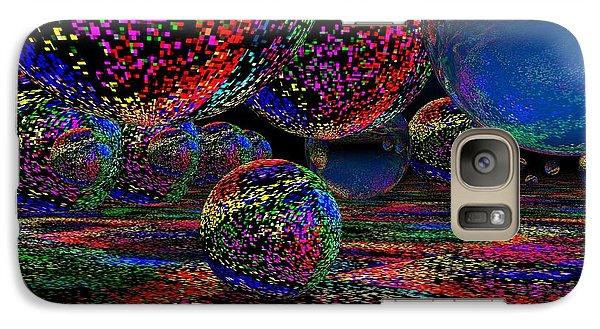 Galaxy Case featuring the digital art Balls1 by Mark Blauhoefer