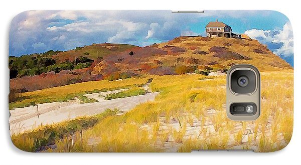 Galaxy Case featuring the photograph Ballston Beach Dunes Photo Art by Constantine Gregory