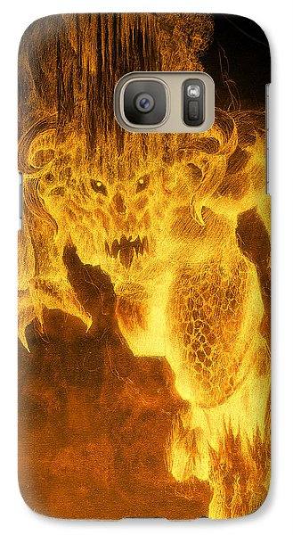 Galaxy Case featuring the mixed media Balrog Of Morgoth by Curtiss Shaffer