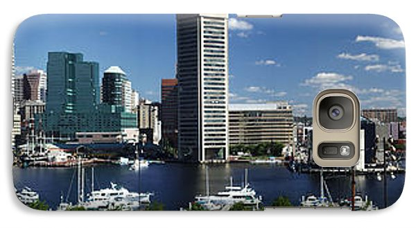 Galaxy Case featuring the photograph Baltimore Inner Harbor Panorama by Bill Swartwout