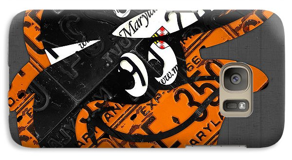 Baltimore Orioles Vintage Baseball Logo License Plate Art Galaxy S7 Case by Design Turnpike