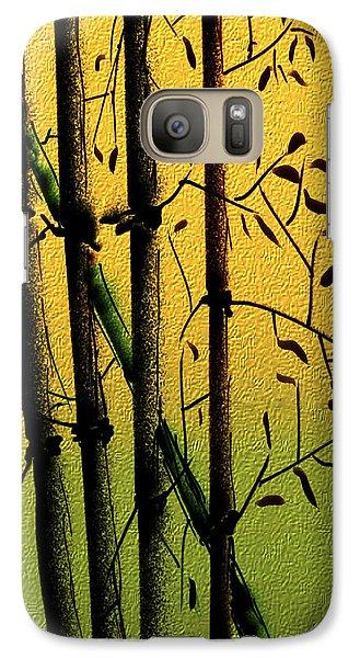 Galaxy Case featuring the digital art Bamboo 1 by Dale Stillman