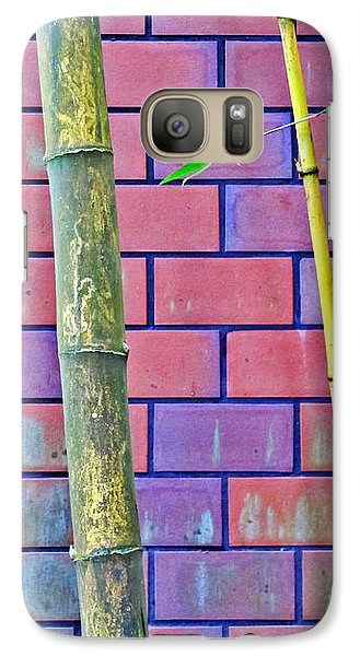Galaxy Case featuring the photograph Bamboo And Brick by Ethna Gillespie
