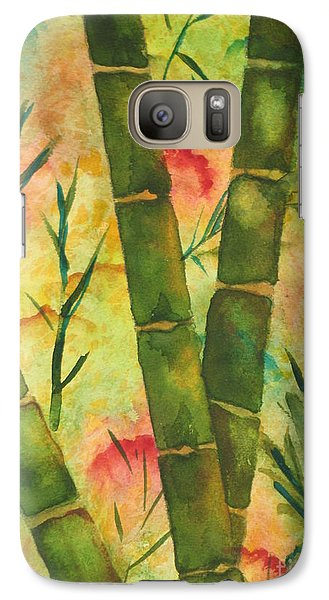 Galaxy Case featuring the painting Bamboo Garden by Chrisann Ellis