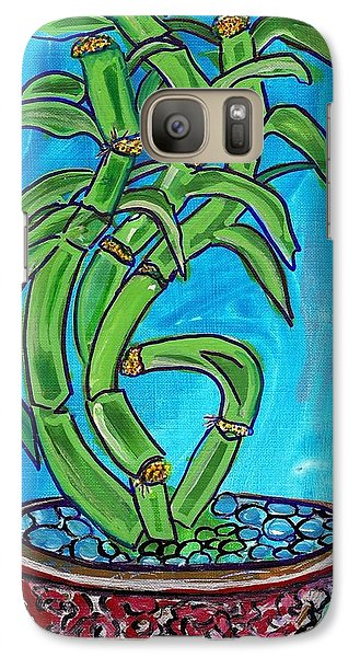 Galaxy Case featuring the painting Bamboo Twist by Ecinja Art Works