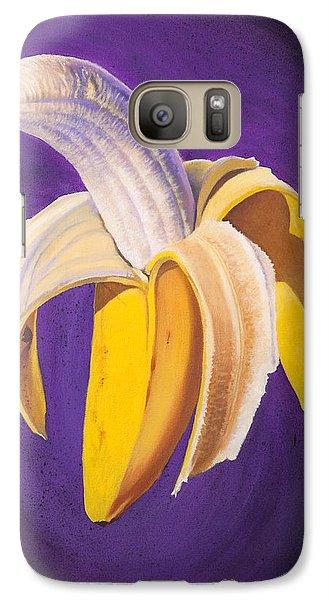 Banana Half Peeled Galaxy Case by Karl Melton