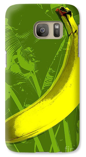 Banana Pop Art Galaxy S7 Case by Jean luc Comperat
