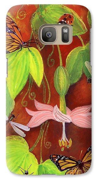 Galaxy Case featuring the painting Bananapoka by Anna Skaradzinska