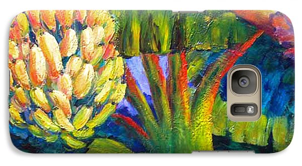 Galaxy Case featuring the painting Bananas by Cheryl Del Toro