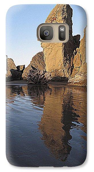 Galaxy Case featuring the photograph Bandon Rocks by Suzy Piatt