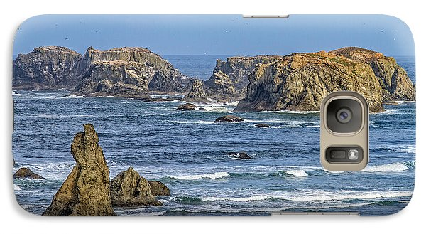 Galaxy Case featuring the tapestry - textile Bandon Beach Landscape by Dennis Bucklin