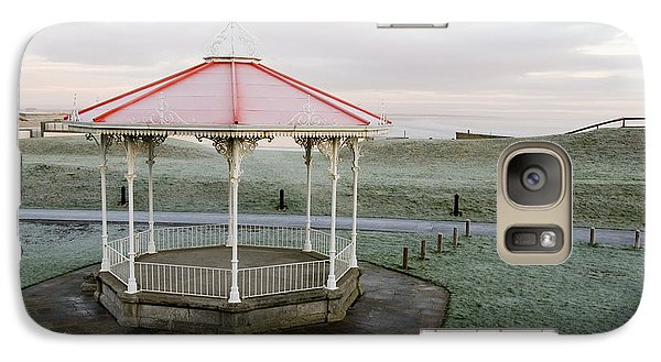 Galaxy Case featuring the photograph Bandstand In Winter by Jeremy Voisey