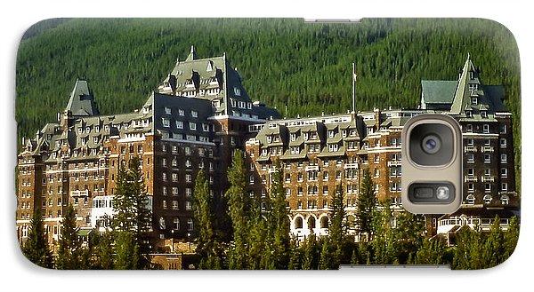 Galaxy Case featuring the photograph Banff Springs Hotel by Richard Farrington
