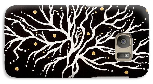 Galaxy Case featuring the painting Bang by Carolyn Cable