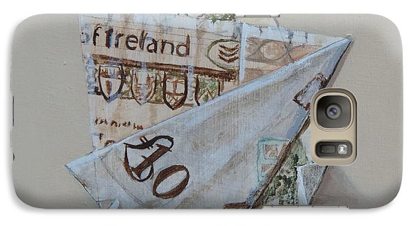Galaxy Case featuring the painting Bank Of Ireland Ten Pound Banknote by Barry Williamson